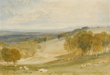 The Vale of Pevensey from Rosehill Park, by Turner