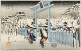 Gion sha setchu, by Utagawa Hiroshige