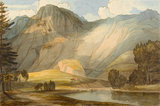 Raven Cragg with Part of Thirlmere, by Francis Towne