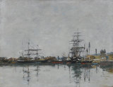 The Dock at Le Havre, by Boudin