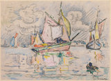 Fishing Boats, by Signac