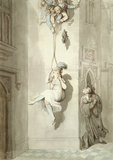 A Varsity Trick; smuggling in, by Thomas Rowlandson