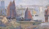 Return of the Sardine Boats, Dournenez, by Goetze