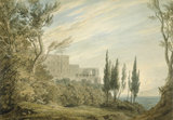 Villa d'Este, Tivoli, by Cozens