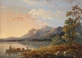 View of Ferry, Keswick Lake, by John Laporte