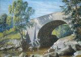 Old Bridge, Glen Moriston, by Goetze