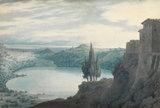 Lake Nemi, by John Robert Cozens