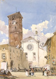 San Fedele, Como, by William Callow