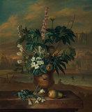 Twelve Months of Flowers: January, by Jacob van Huysum