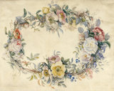 A Wreath of Cultivated and Wild Roses, by Redoute