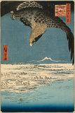 Eagle Over Susaki, Fukagawa, by Hiroshige