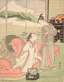 Lover Taking Leave of a Courtesan, by Suzuki Harunobu