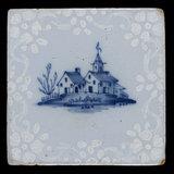 Tin-Glazed Earthenware Tile, English