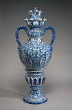 Delftware flower vase with spouts, Greek A Factory