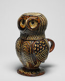 Staffordshire lead-glazed owl jug