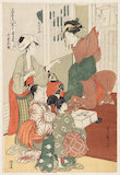 The Chushingura drama parodied by famous beauties, by Utamaro