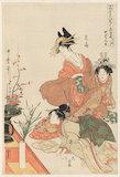 The Chushingura drama parodied by famous beauties, by Utamaro