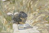 Femme lisant, by Vuillard