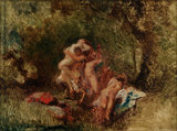 Nymphs et Satyres, by Diaz de la Pena