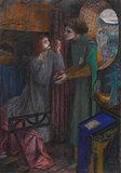 Clerk Saunders, by Elizabeth Siddal