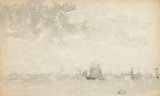 Grey and Silver - North Sea, by Whistler