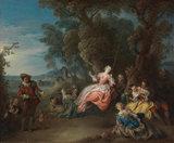 La Balancoire, by Jean-Baptiste Joseph Pater