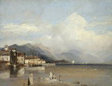 Boccadasse, Genoa with Monte Fasce, by Bonington