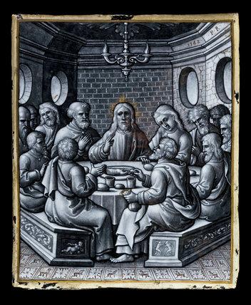 Limoges enamel, The Last Supper, by Pierre Reymond