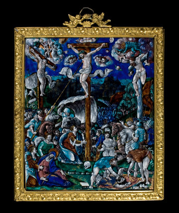 Limoges enamel crucifixion, by Leonard Limosin
