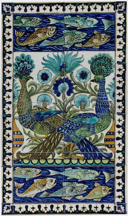 Peacock Tile, by William De Morgan & Co
