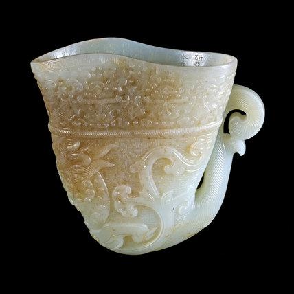 Jade Rhyton, Qianlong Dynasty