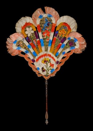 The Messel Standing Feather Fan