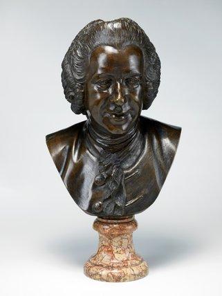 Portrait bust of Pierre-Louis-Marie Maloet, by Jean-Baptiste Pigalle