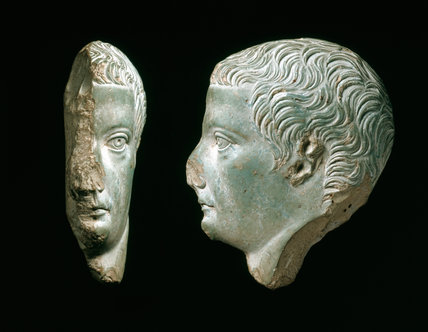 Faience portrait inlay of Tiberius