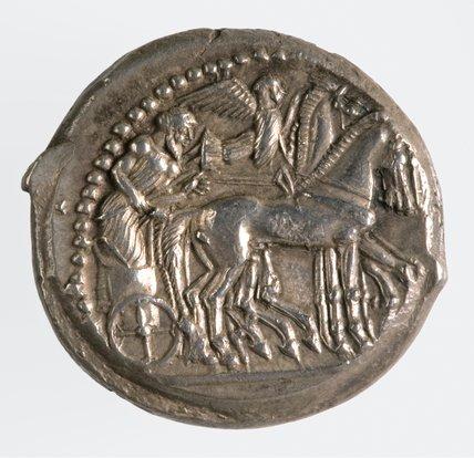 Greek tetradrachm from Syracuse
