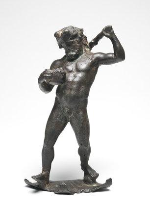 Greek figure of Herakles, from a drinking vessel