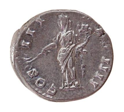 Roman denarius, Pax with cornucopiae and an olive branch