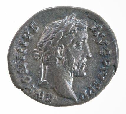Roman denarius, with Antoninus Pius