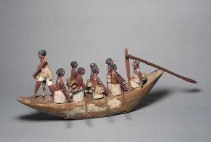 Wooden model of a rowing boat