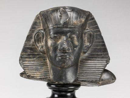 Egyptian limestone statue of Amenenhat III