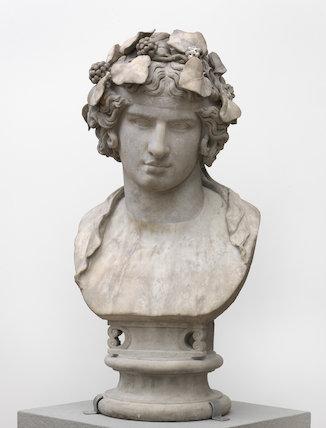Roman head of Antinous