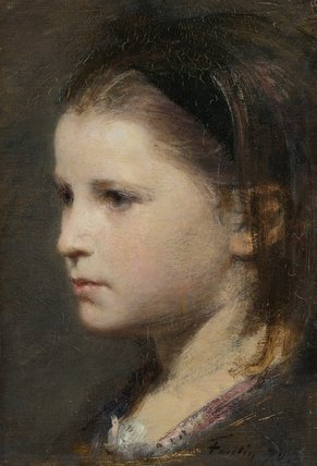 Head of a young girl, by Fantin-Latour