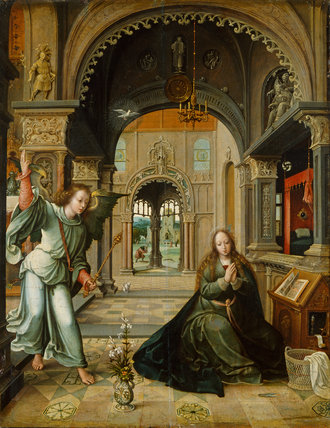 The Annunciation, by Bernart van Orley