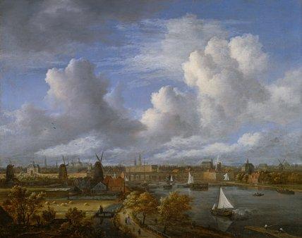Panoramic view on the Amstel, by van Ruisdael
