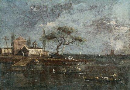 The Island of Anconetta, Venice, by Francesco Guardi