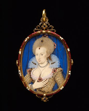 Anne of Denmark, studio of Nicholas Hilliard