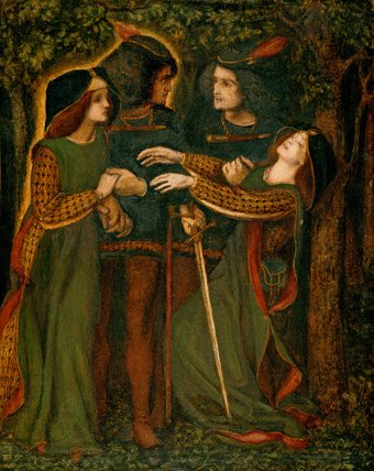 How They Met Themselves, by Rossetti