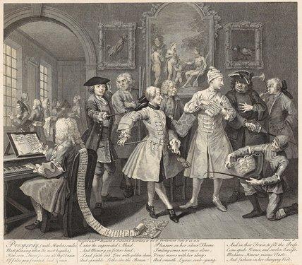 A Rake's Progress, Plate II, by Hogarth