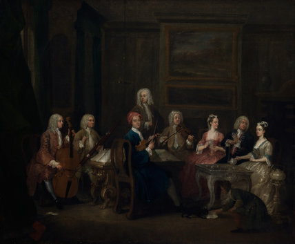 A Musical Party, the Mathias Family, by Gawen Hamilton