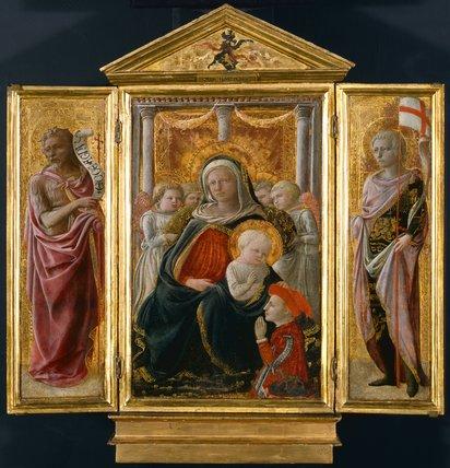 Virgin & Child, John the Baptist & Saints, by Filippo Lippi